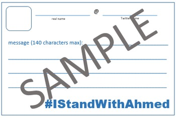#IStandWithAhmed Lesson Materials - Twitter Template & Tex