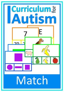 Identify Similarities Clip Cards, Autism Special Education