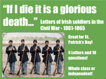 Close Reading Letters of Irish Soldiers in the Civil War -