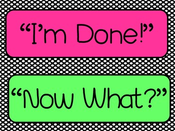 """""""Im Done! Now What?"""" Poster Set"""