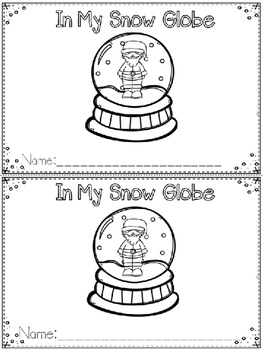 """""""In My Snow Globe"""" Emergent Reader (A Christmas/December D"""