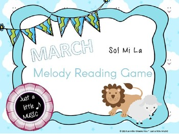 """""""In like a lion, Out like a lamb"""" March Melody Reading Gam"""