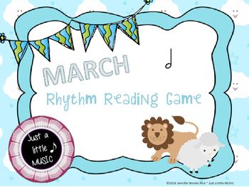 """""""In like a lion, Out like a lamb"""" March Rhythnm Reading Ga"""