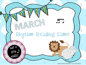 """In like a lion, Out like a lamb"" March Rhythnm Reading Ga"
