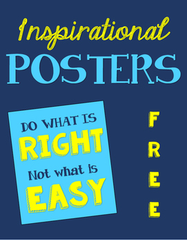 {Inspirational} Posters FREE -- // Teal + Yellow //