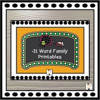 -It Word Family Printable Worksheets