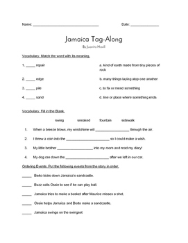 """Jamaica Tag Along"" QUIZ - Spotlight On Literacy (Book Two"