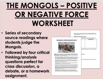 """Judging the Mongols"" - Genghis Khan - Global/World History"