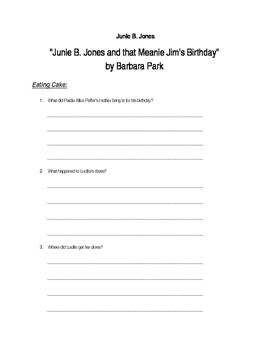 """Junie B. Jones and that Meanie Jim's Birthday"" by Barbara Park"