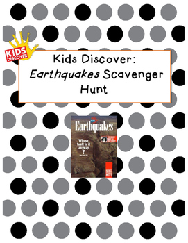 Kids Discover Earthquakes Scavenger Hunt