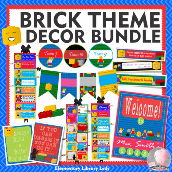 """LEGO like"" Theme Classroom Decor - BUNDLE"