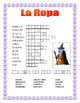 "La Ropa-Label the Clothes in Spanish-""La Brujita Feliz""- H"