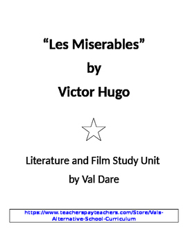 """Les Miserables"" Victor Hugo Literature and Film Study (2016)"