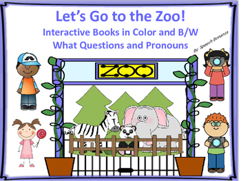 """""""Let's Go to the Zoo"""" Adapted Books (Color and B/W) - Pron"""