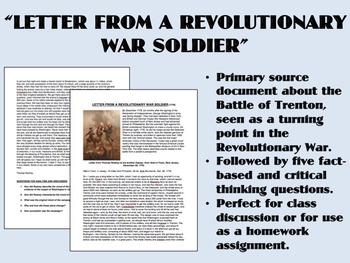 """Letter from a Revolutionary War Soldier"" - American Revol"