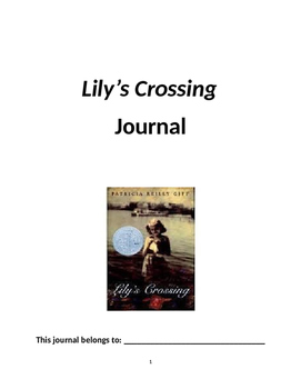 """Lily's Crossing"" Journal"