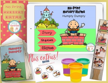 No Print Humpty Dumpty Nursery Rhyme Plus Extras
