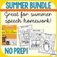 Summer Themed Speech and Language Bundle- No Prep