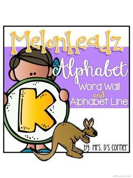 { Melonheadz Theme } Alphabet Word Wall Alphabet and Alpha