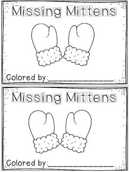 """""""Missing Mittens"""" Emergent Reader (A Winter/December/Janua"""