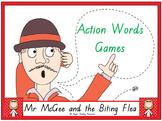 """""""Mr McGee and the Biting Flea"""" action words (verbs) games"""