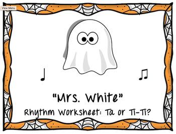 """Mrs. White"" Ta or Ti-Ti? Worksheet"