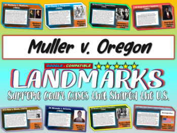 -Muller v. Oregon- Landmark Supreme Court Case (PPT, hando