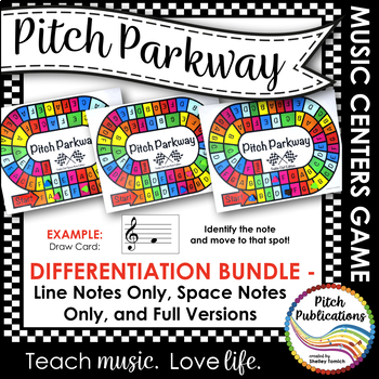 Music Centers - Pitch Parkway {BUNDLE} Treble Clef Note Na