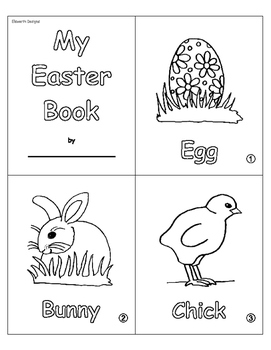 """My Easter Book"" PK-1 Coloring Book"