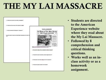 """My Lai Massacre"" - Vietnam War - 1960s - US History/APUSH"