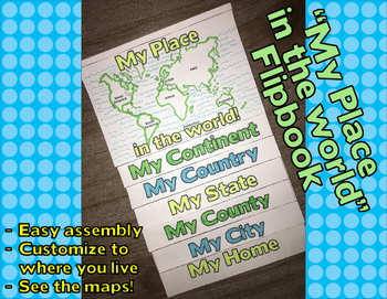 """""""My Place in the World"""" Flip-book"""