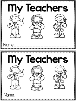 """My Teachers"" (A Back to School Emergent Reader Dollar Deal)"