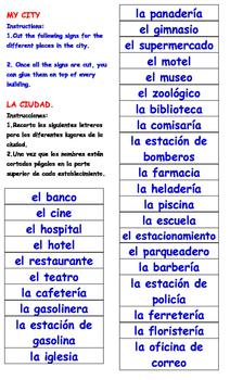 """My neighborhood, my community, my city"" in Spanish."