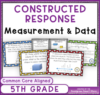Constructed Response Problems - 5th Grade Measurement and Data