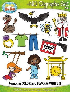 -NG Digraphs Words Clipart Set — Includes 20 Graphics!