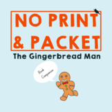 *NO PREP* Gingerbread Man: Speech Therapy Companion #dec16