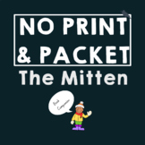 *NO PREP* The Mitten: Speech Therapy Pre-literacy Companio