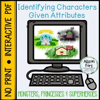 NO PRINT Identifying Characters Given Attributes