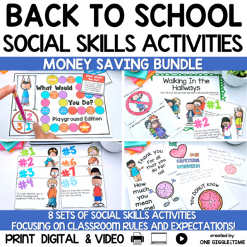 *New Back To School Classroom Social Story Bundle