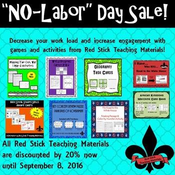 """""""No-Labor"""" Day Sale"""