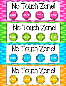 """No Touch Zone"" Manipulative ""Wait Station"""