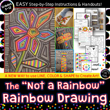 """""""Not A Rainbow"""" Rainbow Drawing- Color Wheel Lesson or Awe"""
