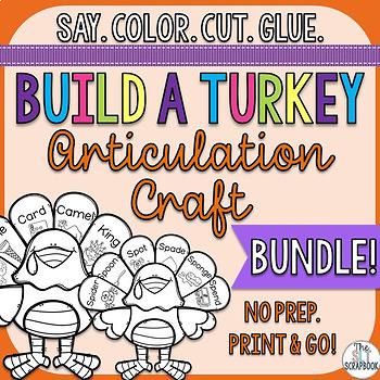 Turkey Articulation Craft Bundle- All Speech Sounds!