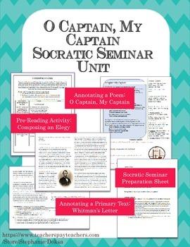 """O Captain, My Captain"": Walt Whitman Socratic Seminar Unit"