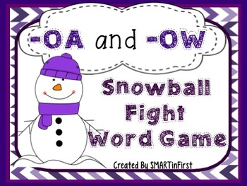 -OA and -OW Snowball Fight Word Game