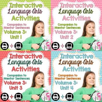 Interactive Language Arts Notebook (Vol 3) Bundle (Grades