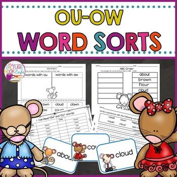 """Word Sorts  """"OU & OW"""""""