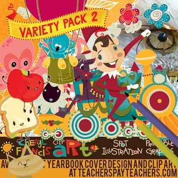 Huge Variety Pack of Brand New Clip Art containing 101 images. 2