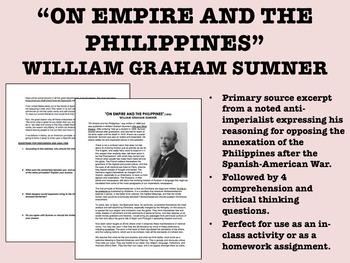 """""""On Empire & the Philippines"""" - William Graham Sumner - Im"""