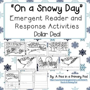 """On a Snowy Day"" Emergent Reader (A Winter/December/Januar"